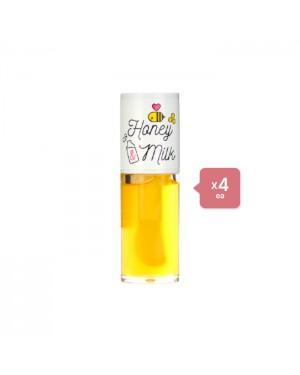 A'PIEU - Honey & Milk Lip Oil (4ea) Set - Golden poppy