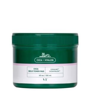 VT Cosmetics - Tampon de toner doux Cica - 60pcs