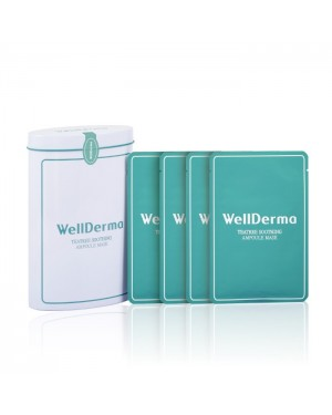 WELLDERMA - Teatree Soothing Ampoule Mask (Tin case) - 10pcs