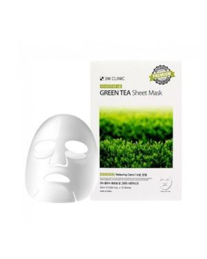 3W Clinic - Masque en feuille Essential Up au thé vert - 1pc