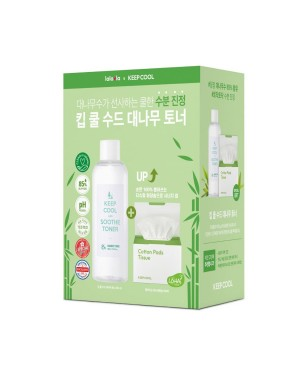 Keep Cool - Soothe Bamboo Toner & Tissue Cotton Pad Set Limited Edition - 1set(2items)