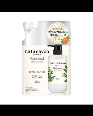 Kose -  Softymo Natu Savon Select Body Wash Nachfüllung - Apple & Jasmine - 360ml