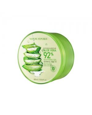 NATURE REPUBLIC -  Beruhigendes und feuchtigkeitsspendendes Aloe Vera 92% beruhigendes Gel - 300ml
