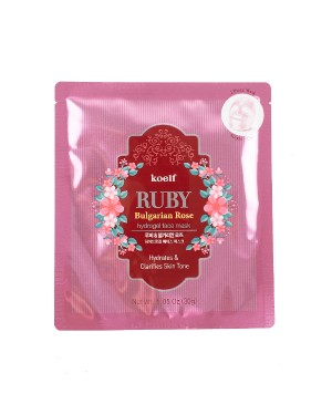PETITFEE - Pack de masques Koelf Ruby & Rose bulgare - 1pc