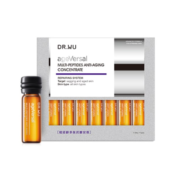DR. WU - Ageversal Multi-Peptides Anti-Aging Concentrate - 7pcs