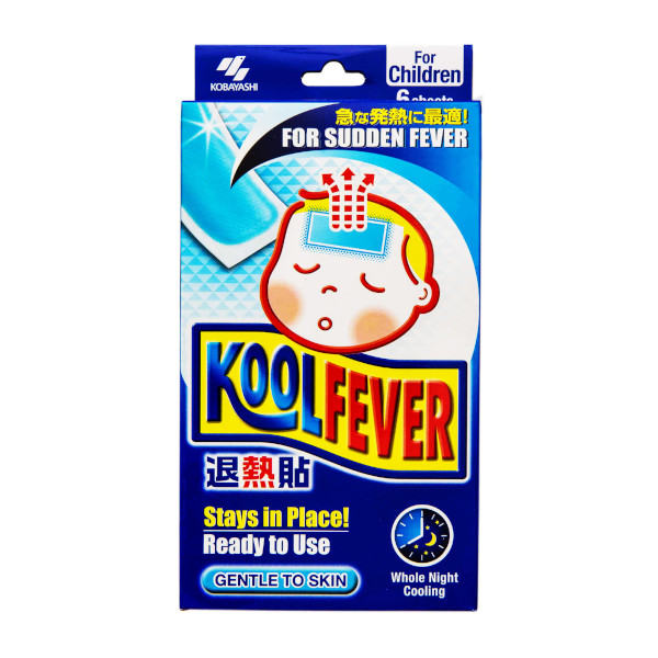 Kobayashi - Fever Cooling Gel Pad For Kids Child (Blue) - 16 sheets