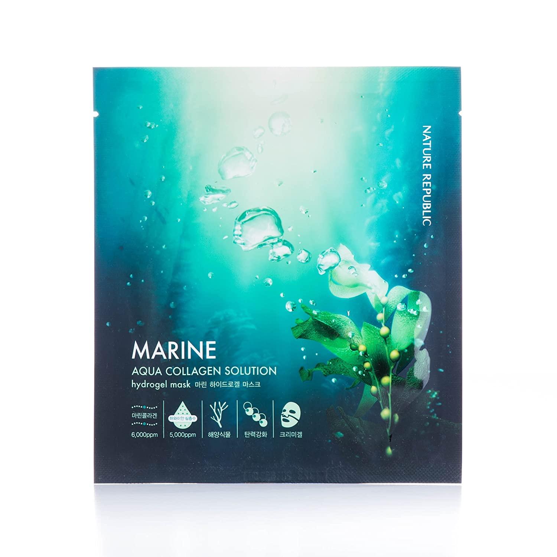NATURE REPUBLIC - Aqua Collagen Solution Marine Hydrogel Mask - 1pc