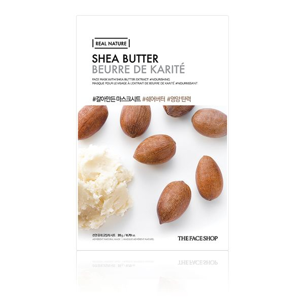 The Face Shop - Real Nature Face Mask - Shea Butter - 1pc