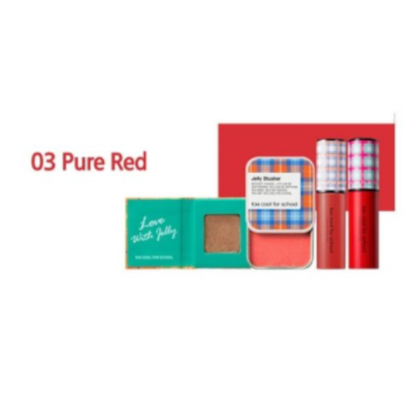 too cool for school - Check Sweet Make-up Kit - 1set - Pure Red