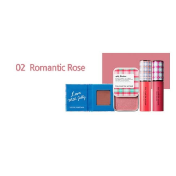 too cool for school - Check Sweet Make-up Kit - 1set - Romantic Rose