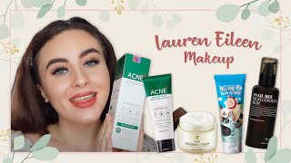 BEE VENOM ON THE FACE??????? KOREAN SKINCARE REVIEW! ft. Lauren Eileen Makeup | STYLEVANA K-BEAUTY