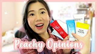 Ultimate Sunscreen Review ft. peachy opinions | STYLEVANA K-BEAUTY