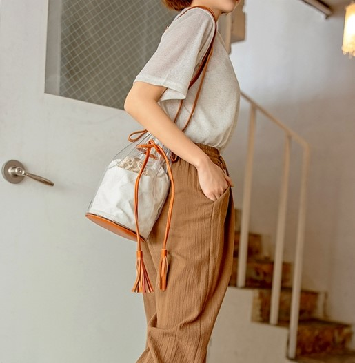 09women - Transparent Crossbody Bucket Bag