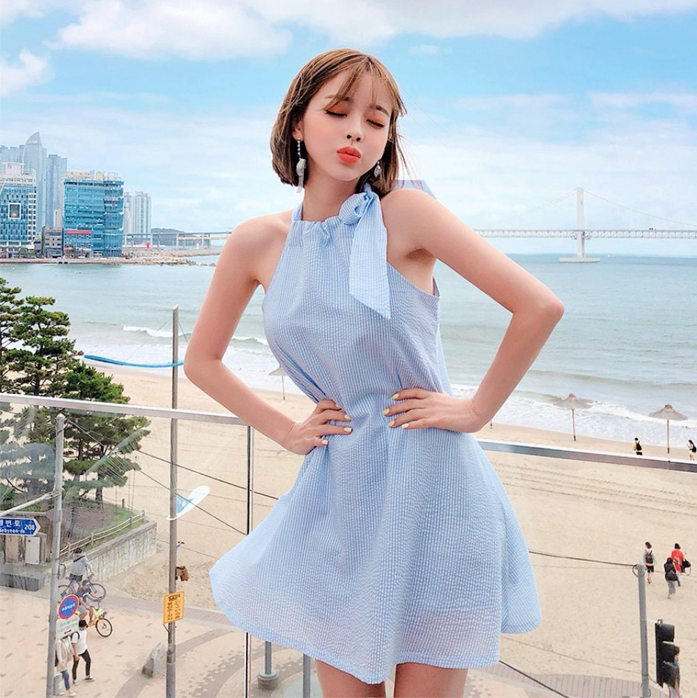 chuu - Halter A-Line Mini Dress