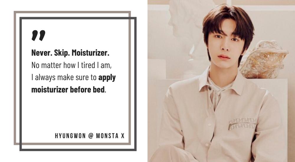 Stylevana - Vana Blog - MONSTA X Hyungwon - Moisturizer