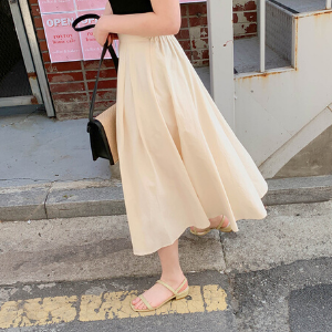 Stylevana - Vana Blog - Summer Outfit - Cherryville - Band-Waist Side-Zip Plain Midi Skirt