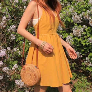 Stylevana - Vana Blog - Summer Outfit - Stylenanda - Spaghetti-Straps Cross-Back A-Line Mini Dress