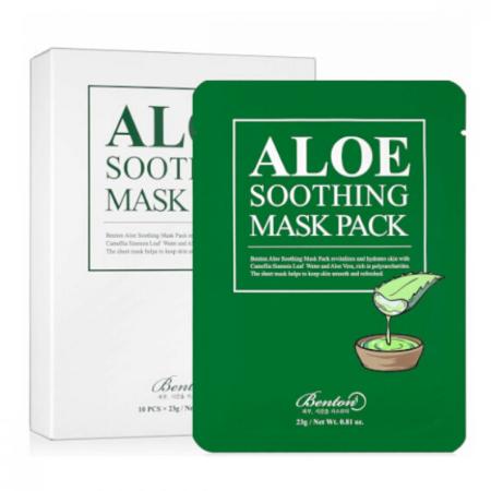 Stylevana - Vana Blog - Best Aloe Vera Face Mask Sheet - Benton - Aloe Soothing Mask Pack