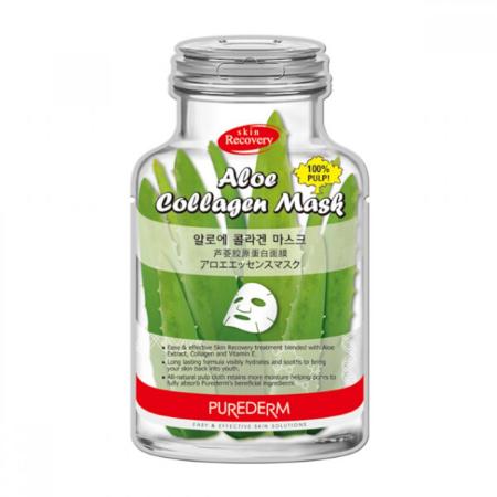 Stylevana - Vana Blog - Best Aloe Vera Face Mask Sheet - PUREDERM - Aloe Collagen Mask-B