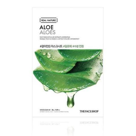 Stylevana - Vana Blog - Best Aloe Vera Face Mask Sheet - The Face Shop - Real Nature Face Mask - Aloe
