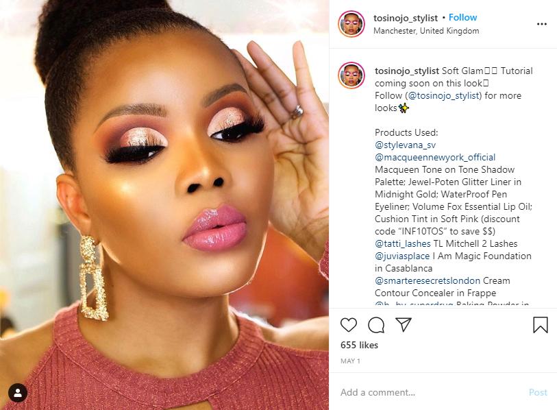 Stylevana - Vana Blog - Beauty Influencers - Tosin Ojo Instagram - MACQUEEN - Waterproof Pen Eyeliner