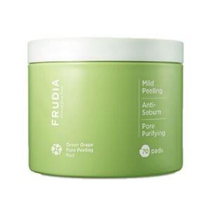 Stylevana - Vana Blog - Beauty Review Youtube Cassandra Bankson - FRUDIA - Green Grape Pore Peeling Pad