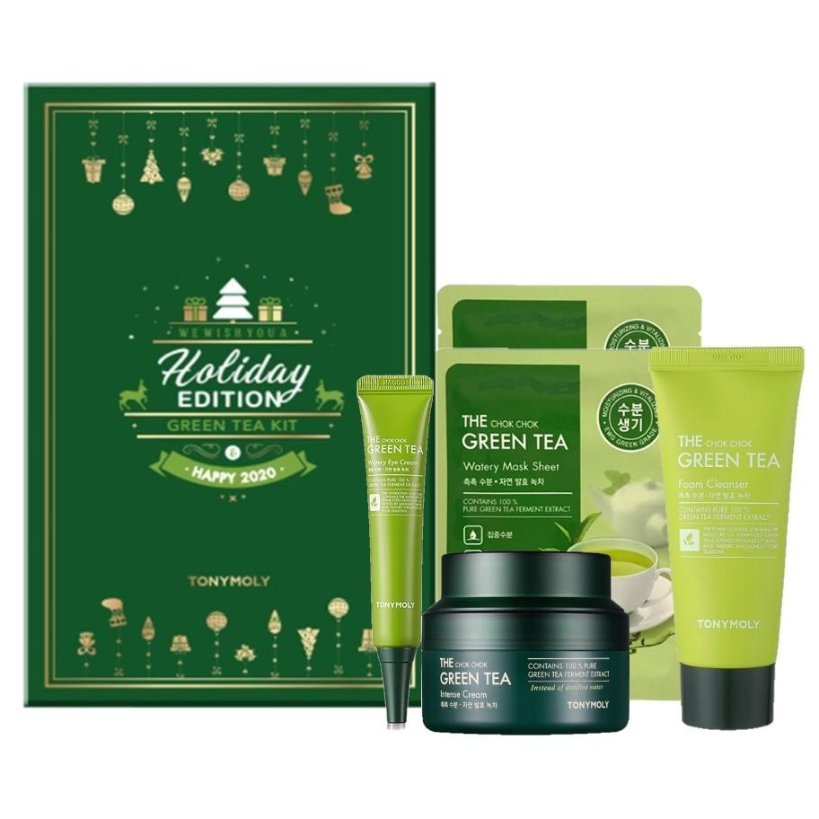 TONYMOLY - 2019 Christmas Holiday Edition Green Tea Kit
