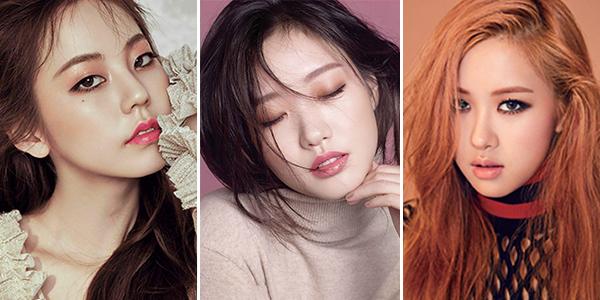 Color pop on eyes– Pictured with Sohee Ahn, Kim Go-Eun, Blackpink's Rosé