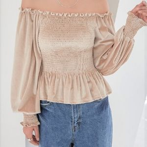 Chi Chi - Ruffled Smocked-Waist Blouse