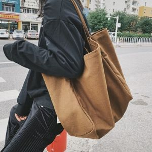 Dearest - Oversized Canvas Shoulder Bag