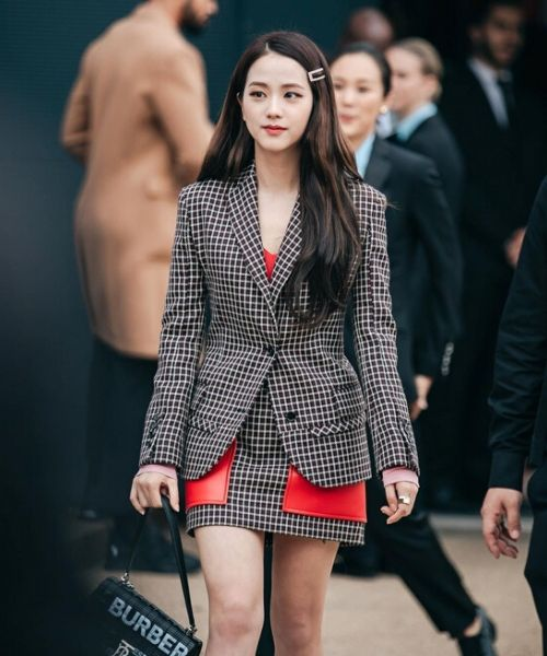 Jisoo Blackpink London Fashion Week 2019 Plaid Blazer