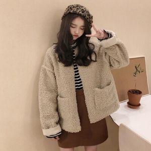 MissLady - Two-Way Round Neck Fleece Jacket