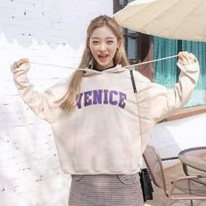 chuu - Lettering Oversized Hoodie