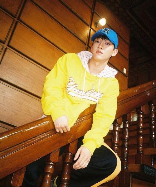 EXO Chen Yellow Hoodie Photoshoot