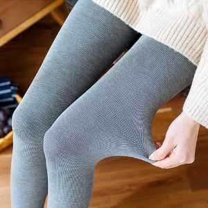 Stylevana - Fleece Lined Striped Tights