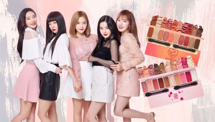 Red Velvet and Etude House - Play Color Eyes Cherry Blossom