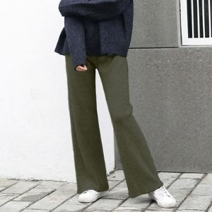 Bbuckkooki - Drawstring-Waist Straight-Cut Pants