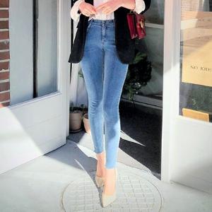 chuu - Frayed-Hem Skinny Jeans Vol.75