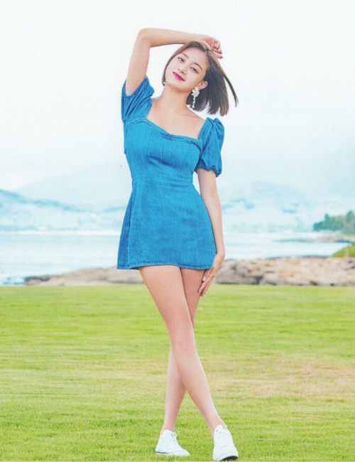 TWICE Park Jihyo in blue dress Japan Postcard