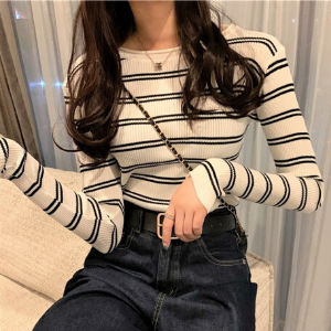 MissLady - Long-Sleeve Striped Tee