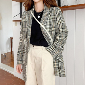 Icecream12 - Plaid Blazer