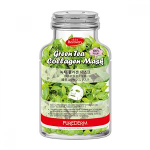 PUREDERM - Green Tea Collagen Mask-B - 1pc