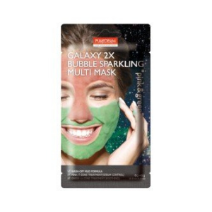 PUREDERM - Galaxy 2X Bubble Sparkling Multi Mask - 6g+6g - Pink & Green