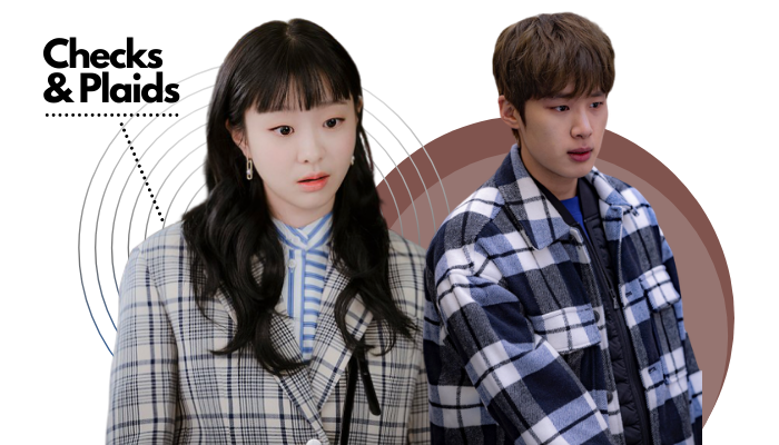 Itaewon Class Fashion Trend - Kim Da-mi and Kim Dong-hee Check Print Blazers