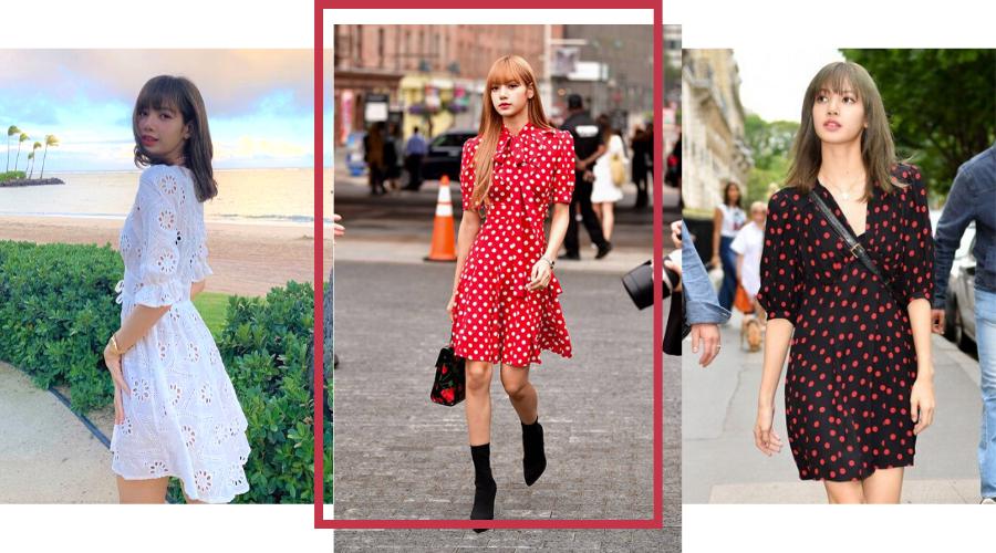 Blackpink Lisa Fashion Style Street Outfits Daytime Dress Paris Fashion